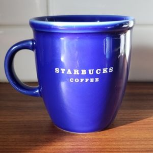 2007 colbalt blue starbucks coffee mug